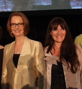 Louise Whelan and Julia Gillard
