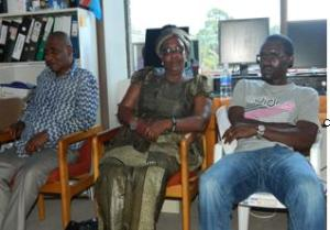 Left to right: Mr Omari, Ms Rozaria, and Mr John Bosco, representing DRC, GLAPD and Burundi