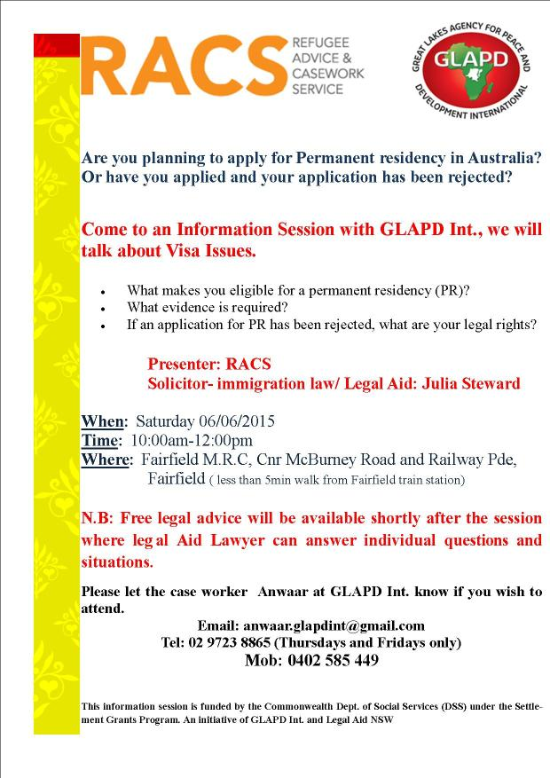 Info session VISA issues