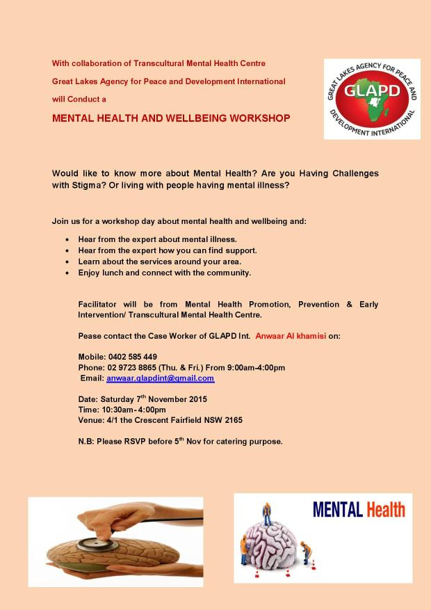 _MENTAL HEALTH AND WELLBEING WORKSHOP flyer 7th November 2015-page-001